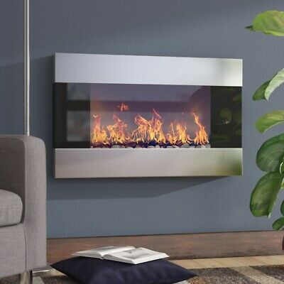 Electric Fireplace Heater Wall Mounted Infrared Space Firebox Blower Adjustable  • 329.69$