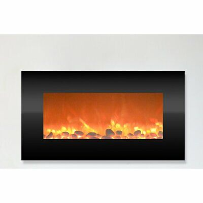 Electric Heater Fireplace Wall Mounted Infrared Space Firebox Blower Adjustable  • 220.18$