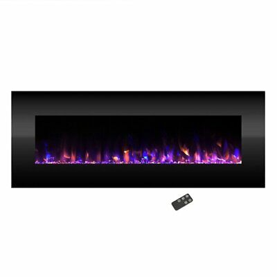 Electric Heater Wall Mounted Fireplace Infrared Space Firebox Blower Adjustable  • 569.97$