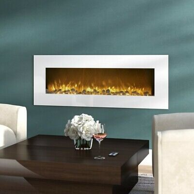 Electric Wall Mounted Fireplace Heater Infrared Space Firebox Blower Adjustable  • 599.99$