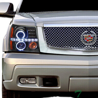 $270 • Buy Topline For 2002-2006 Cadillac Escalade LED Halo Projector Headlights Amber -Blk