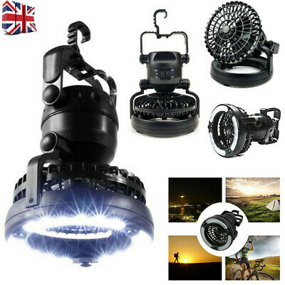 £16.39 • Buy Outdoor Camping Tent LED Light Lantern With Fan Gear Equipment R3L1 Foldable NEW
