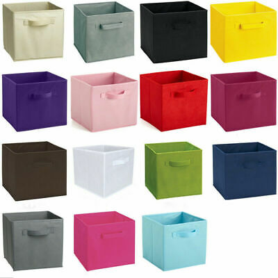 £8.96 • Buy 4pc Foldable Storage Boxes Collapsible Home Clothes Organizer Fabric Cube Basket