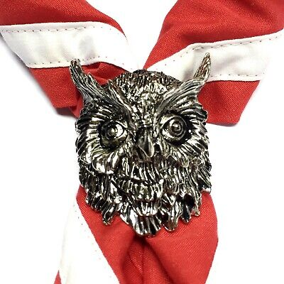 Boy Scout Woggle Owl Neckerchief Slide Item No. WK81 • 4£