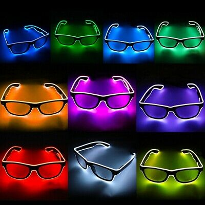 Light Up Neon Rave Glasses Glow LED Sunglasses Costumes For Halloween Party New • 4.35£
