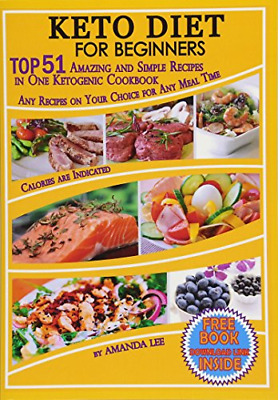 Keto Diet Recipes Beginners Ketogenic Cookbook Weight Loss Low Carb Food Dieting • 8.52$
