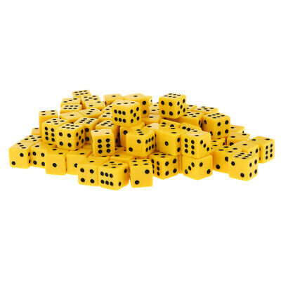 AU21.23 • Buy 100x Six Sided Dice D6 Square Dice For Roleplaying Game Party Supplies