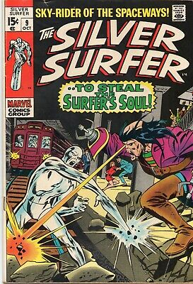 The Silver Surfer #9 VG+ 1968 Series Stan Lee  • 4.99$