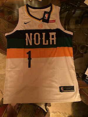 NWT Nike Zion Williamson #1 New Orleans Pelicans Jersey Men's WHITE • 25$