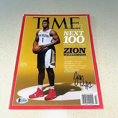 $399.99 • Buy ZION WILLIAMSON #1 Autographed Signed TIME MAGAZINE NEW ORLEANS PELICANS NBA