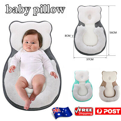AU30.59 • Buy Infant Soft Newborn Baby Pillow Cushion Prevent Flat Head Sleep Nest Mattress AU