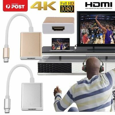 AU9.99 • Buy Samsung S9 S8 Macbook 4K Type C USB-C USB 3.1 To HDMI HDTV Monitor Adapter Cable