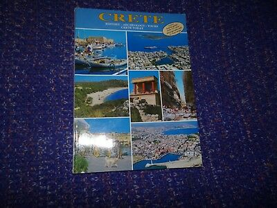 Crete History-Archeology-Tours Crete Today Book From 1991 • 1.75£