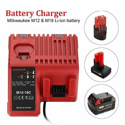 AU45.99 • Buy For Milwaukee 12V/18V M12-18C 48-11-1828 Lithium-ion Battery Charger Power Tool