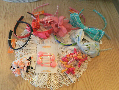 Gymboree Hair Accessories Lot,NEW,headbands,hairclips,curley Ques,11 Pc. Lot • 0.99$