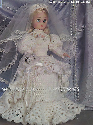 Crochet Pattern To MAKE Dolls Clothes Wedding Dress & Posy 15  Sindy Barbie DK • 2.99£