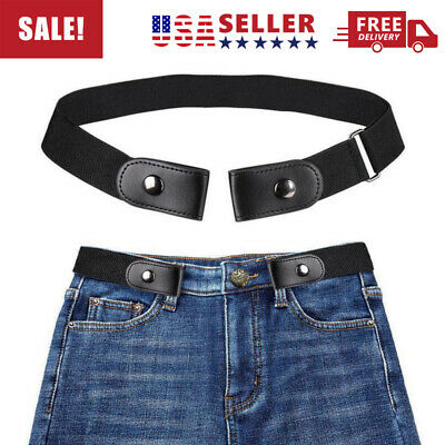 $5.99 • Buy Buckle-free Elastic Comfortable Invisible Womens Belt For Jeans No Bulge Hassle