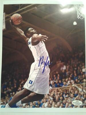 $129.95 • Buy ZION WILLIAMSON Hand-Signed Autographed DUKE BLUE DEVILS 8X10 PHOTO With COA