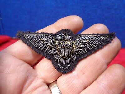 Wwi Us Army Pilot Wings Bullion   #23 • 3.25$