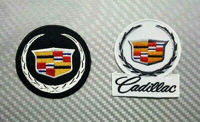CADILLAC RACING SPORTS CAR MOTOR AUTO BADGE CAP Embroidered Patch Iron Sew Logo • 2.98$