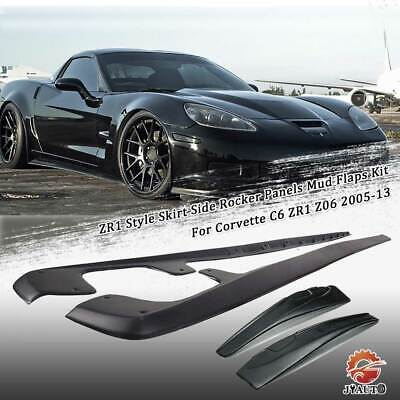 $82.49 • Buy Skirt Side Rocker Panels Mud Flaps Kit ZR1 Style For Corvette C6 Z06 2005-13