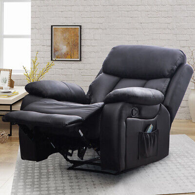 Modern Leather Recliner Armchair Upholstered Sofa Lounge Chair Seat Home Cinema • 299.95£