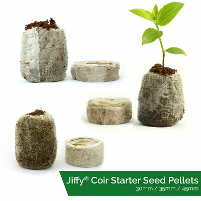 Jiffy Coir Propagation Pellets Grow Blocks Peat Free Eco Friendly Compost • 4.39£