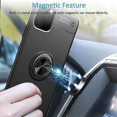 AU10.89 • Buy For IPhone 11 Pro XS Max XR Ring Holder Phone Case Back Cover+ Screen Protector