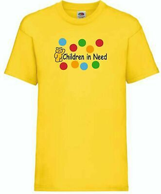 Children In Need T-Shirts In Spotted, Bear Pudsey Tee 15% BBC Charity • 7.99£