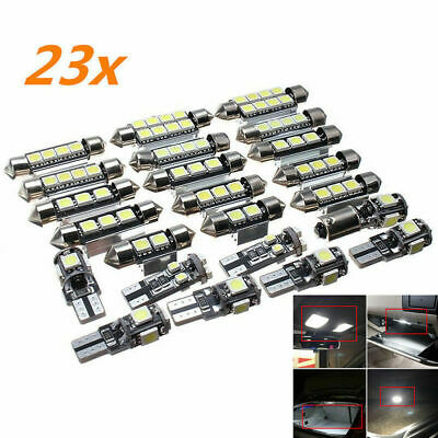 $ CDN12.32 • Buy 23pc LED Canbus Car Interior Inside Light Dome Trunk Map License Plate Lamp Bulb