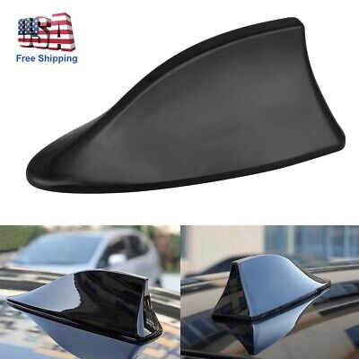 $ CDN10.36 • Buy Black Shark Fin Roof Antenna Aerial FM/AM Radio Signal Decor Car Trim Universal
