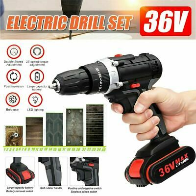 View Details 3 In.1 36V Cordless Hammer Electric Drill Double 25-Speed Torque Li-ion Battery • 49.99£
