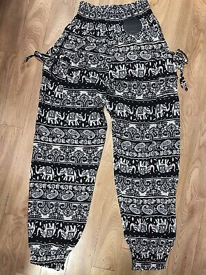AU24.95 • Buy Caroline Morgan Harem Pants Women Elephant Baggy Hippie Gypsy Yoga Elastic