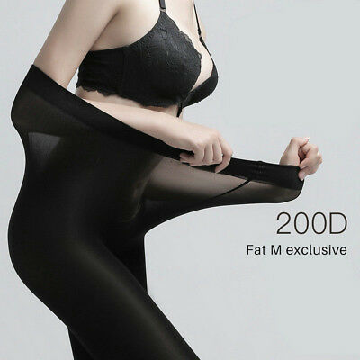 Plus Size Tights 200D Elastic Velvet Winter Warm Thick Pantyhose Stockings UK • 2.82£