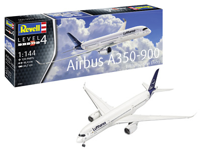 Revell 03881 Airbus A350-900 Lufthansa New Livery 1:144 Scale Kit • 25.79£