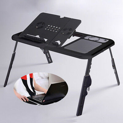 USB Cooling Fans&Foldable Laptop Desk Sofa Stand Tray Table For Bed Sofa • 22.37£
