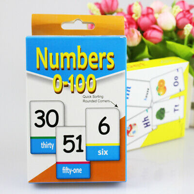 Kids English Alphabet Arabic Numbers Learning Flash Paper Card Education Toy • 3.46£