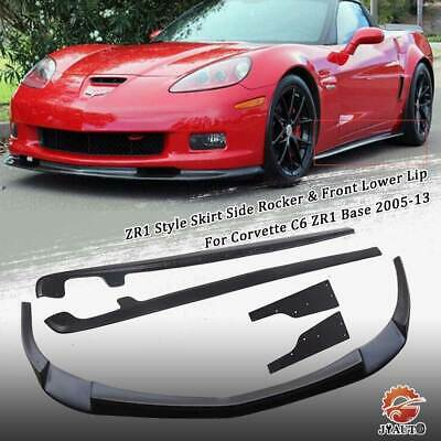 $260 • Buy ZR1 Style Skirt Side Rocker & Front Lower Lip For Corvette C6 ZR1 Base 2005-13
