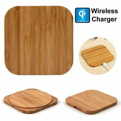 $ CDN12.03 • Buy Qi Wireless Charger Wood Pad Charging Mat For Samsung Galaxy Note 9 Iphone
