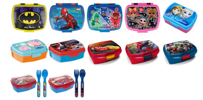 Kids Character Sandwich Lunch Box Food Fruit Snacks Children Back To School • 8.99£
