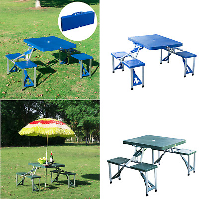Fold Away Carry Table Chair Bench Set Up Camping Portable Folding Picnic Outdoor • 78.19£