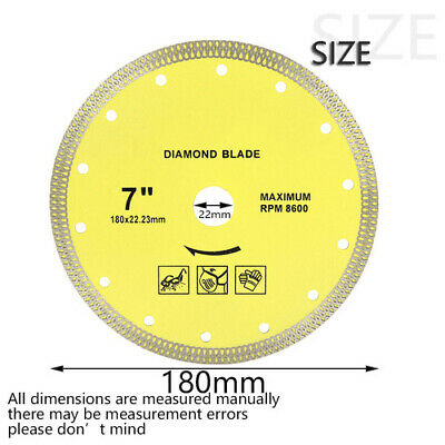 £11.90 • Buy 180mm  Diamond Saw Blade Wood Cutting Disk  Wood Saw Disc Cutter Angle Grinder