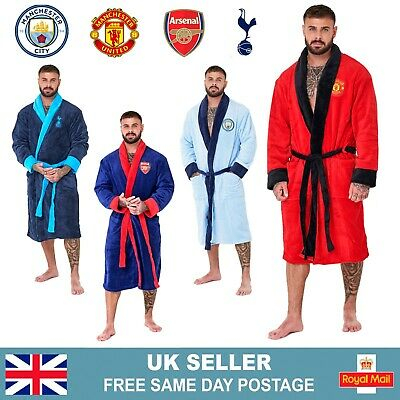 £23.95 • Buy Mens Official Football Club Dressing Gown | Fleece Football Robe | Size S-XL