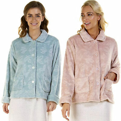 Ladies Bed Jackets | Embossed Bed Jackets By La Marquise | Fleece Bed Jacket • 15.95£