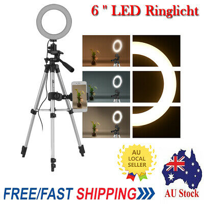 AU49.45 • Buy 6  LED Ring Light With Tripod Stand For Youtube Tiktok Makeup Video Live K9U8