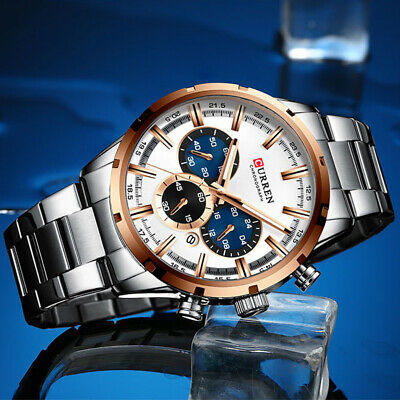 AU36.68 • Buy CURREN Luxury Men's Watches Stainless Steel Date Waterproof Quartz Wrist Watch
