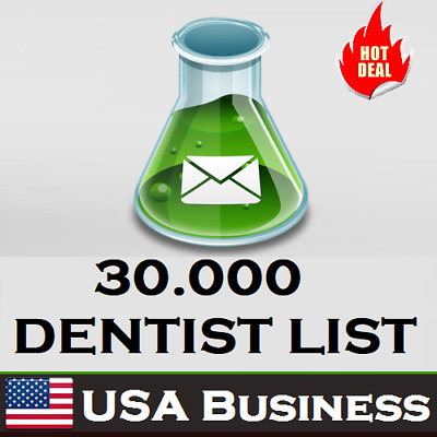$20 • Buy 30K USA DENTIST Database Companies/Business B2B With Address Phone Emails Leads