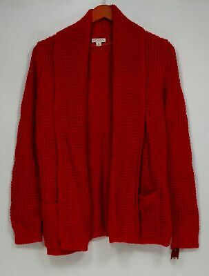 $8.99 • Buy Merona Sz XS Long Sleeve Open Front Cardigan Sweater Red Womens