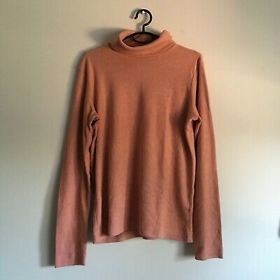 AU5.80 • Buy Pink Uniqlo Heattech Fleece Turtleneck (size M)- In Good Condition