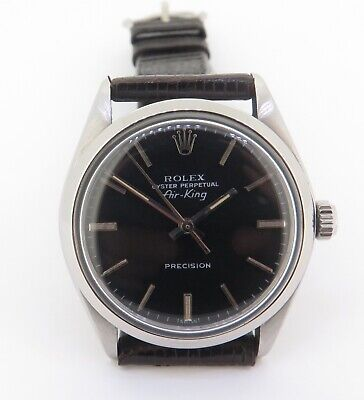AU3450 • Buy .Vintage 1977 Rolex Airking Ref 5500 Steel Men's Watch Cal 1520 Serviced